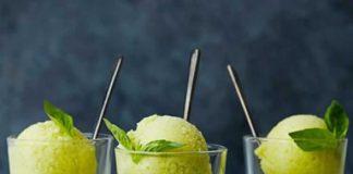sorbet ananas et basilic avec thermomix