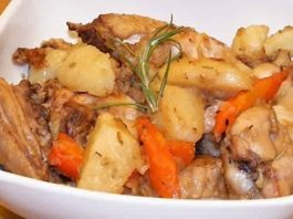 Cuisses de Poulet pommes de terre et carotte au cookeo