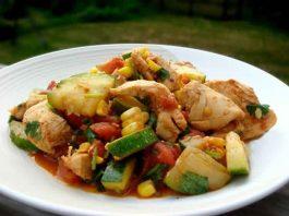 Escalopes de poulet et courgettes au cookeo