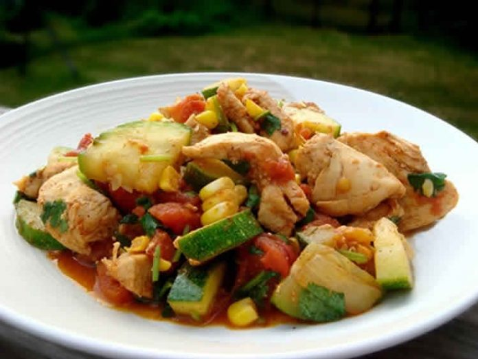 Escalopes de poulet et courgettes au cookeo
