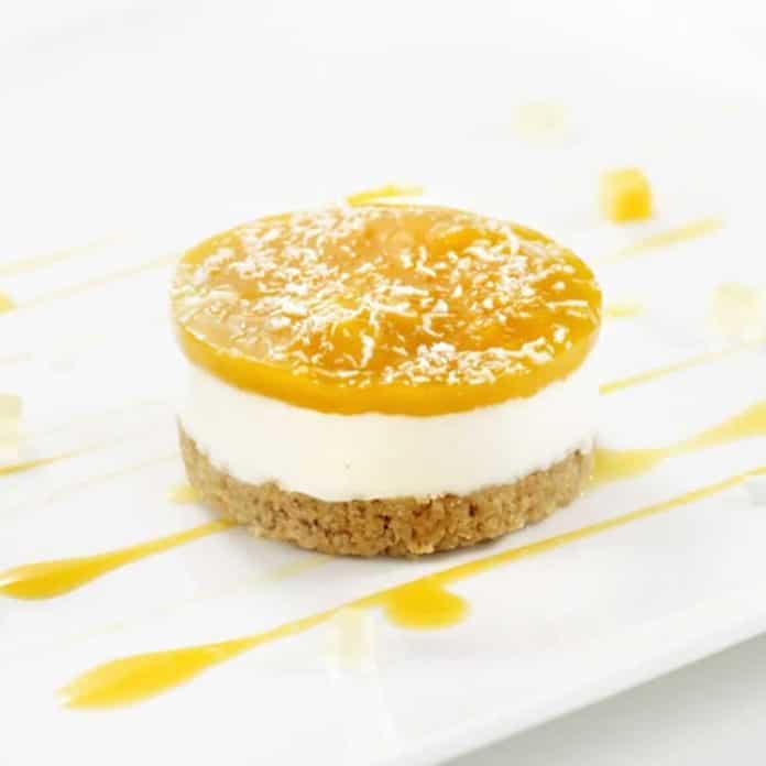 Panna cotta citron spéculoos et mangue au thermomix
