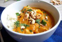 Poulet potiron et curry au cookeo