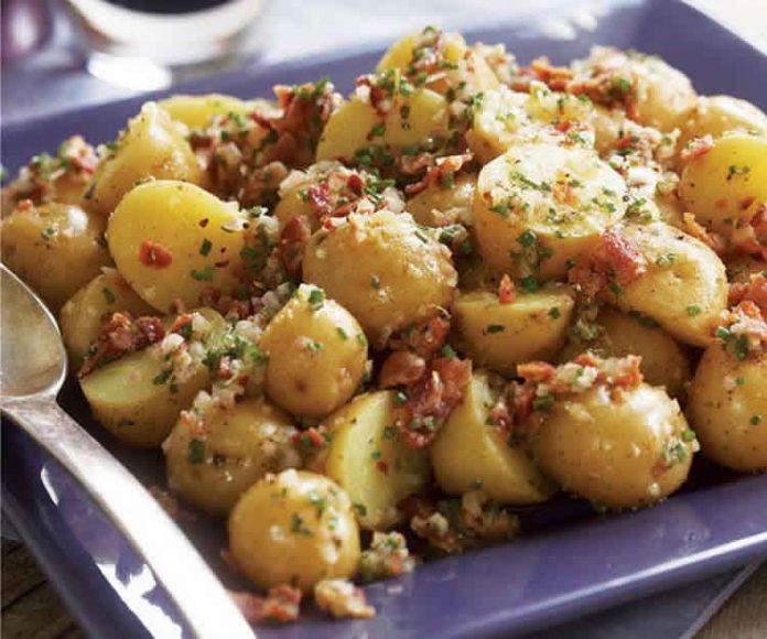 Salade pomme de terre et lard au cookeo