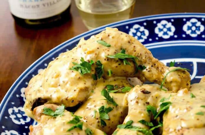 Cuisses de poulet avec moutarde au cookeo