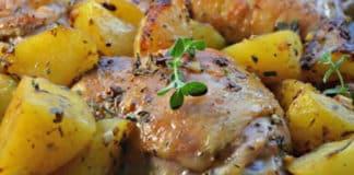 Cuisses de poulet pommes de terre et oignon au cookeo
