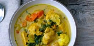 Escalopes de poulet aux légumes et curry au cookeo