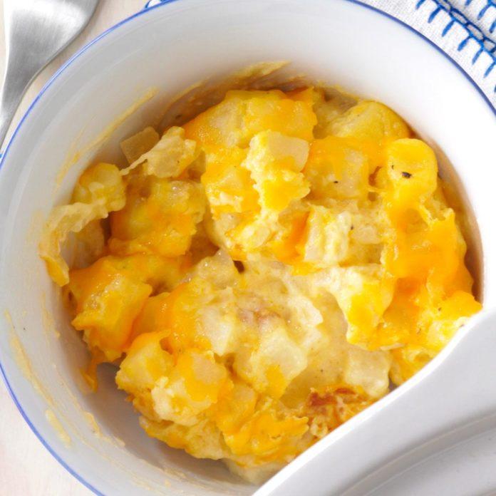 Pommes de terre avec cheddar au cookeo