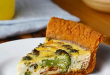 Quiche brocoli bacon et cheddar