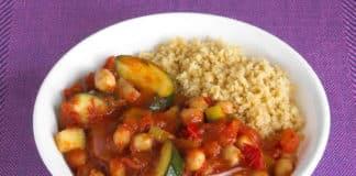 Ragoût de pois chiches tomate et courgette au cookeo