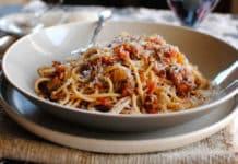 Recette Spaghetti bolognaise aux lentilles et carottes weight watchers