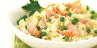 Risotto saumon et petits pois au cookeo