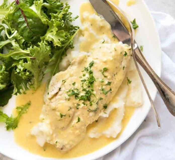 Tranches de poisson sauce crémeuse au cookeo