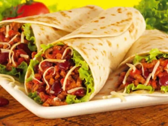 Burritos au poulet et champignons au thermomix