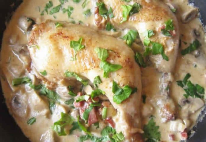 Cuisse de poulet au cookeo a la creme