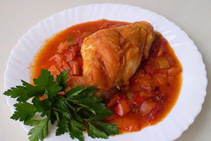 Cuisses de lapin aux poivrons et tomates au cookeo