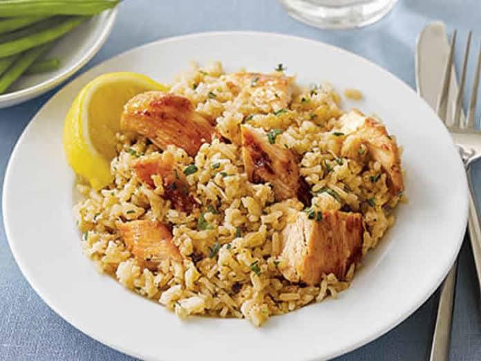 Poulet au riz avec sauce Worcestershire cookeo