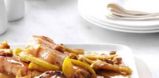 Recette côtelettes de porc aux pommes et épices douces ww
