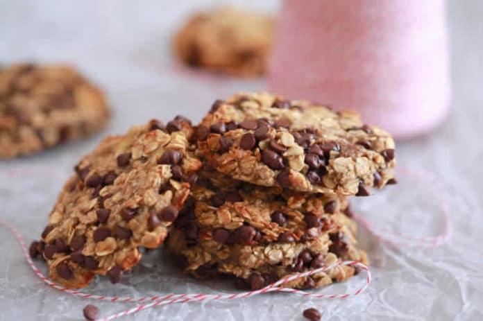 Recette de biscuits à l'avoine et pépites de chocolat ww