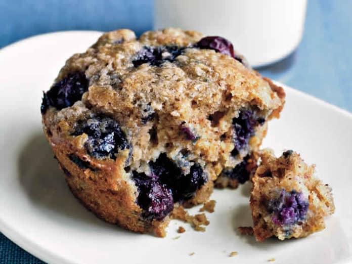 Recette des muffins aux myrtilles et avoine ww