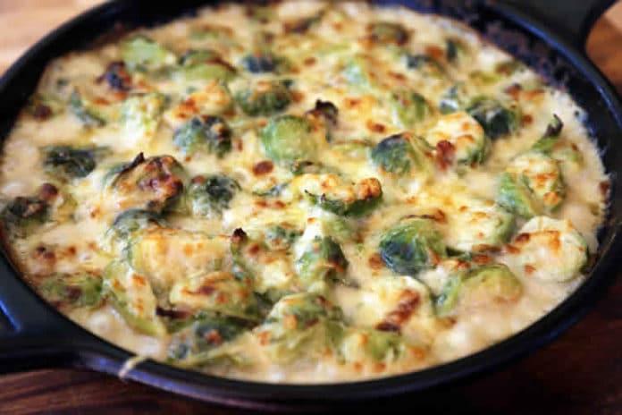 Recette gratin choux de Bruxelles au fromage ww