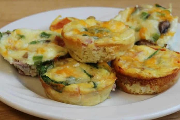Recette muffins aux oeufs et dinde ww