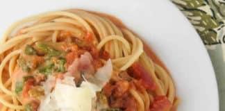 Recette pâtes crémeuses aux tomates champignons et épinards w.w