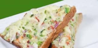 Recette pain grillé au fromage et légumes ww