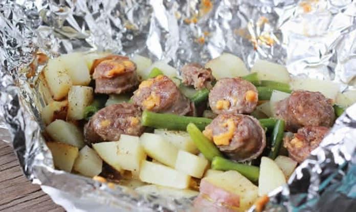 Recette pommes de terre avec des saucisses fumées ww