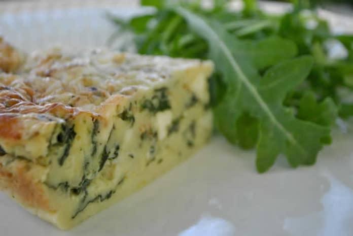 Recette quiche sans pâte aux épinards et au fromage feta ww