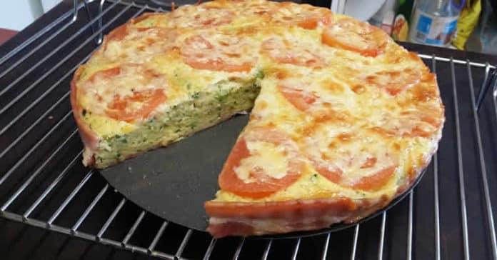 Recette quiche sans pâte courgettes et bacon ww