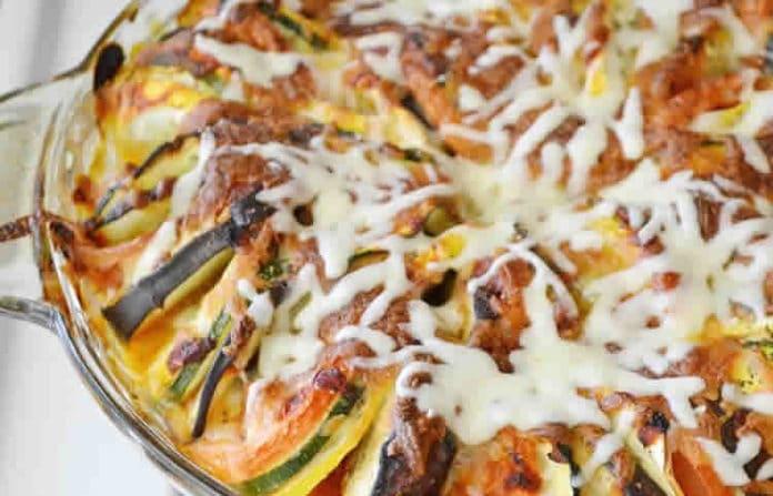 Recette ratatouille fromage au four w.w