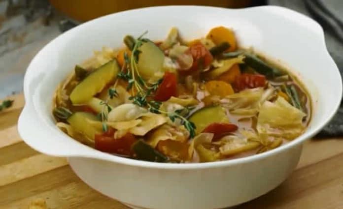 Recette soupe au chou et légumes ww