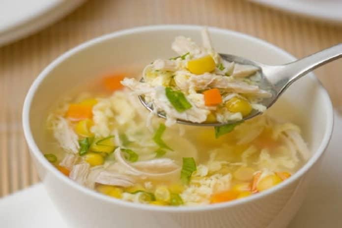 Recette soupe de poulet aux oeufs ww