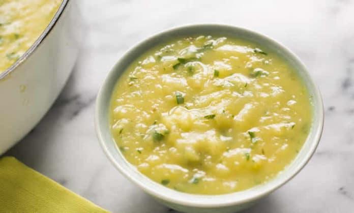 Recette soupe poireaux et pommes de terre w.w