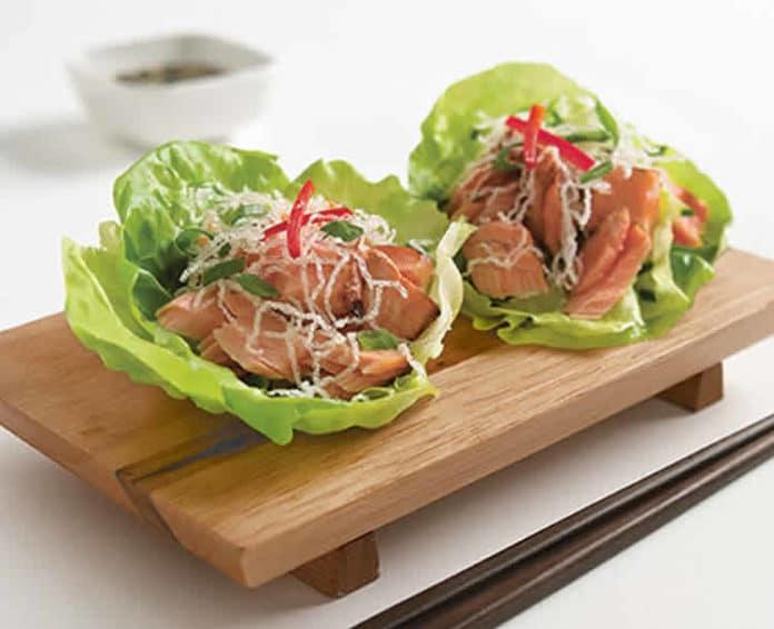 Recette wraps de saumon et laitue weight watchers