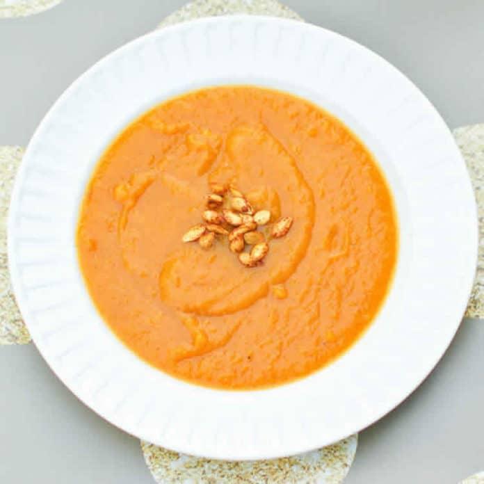 Soupe à la courge et aux patates douces au thermomix