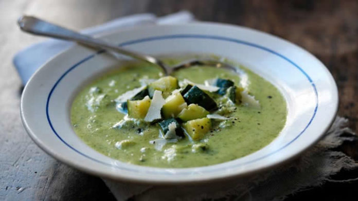 Soupe de courgettes au persil au cookeo