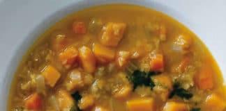 Soupe de potimarron et lentilles au cookeo