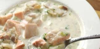 Soupe de saumon cabillaud pommes de terre au thermomix