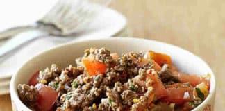 Tomate et viande hachée au Cookeo