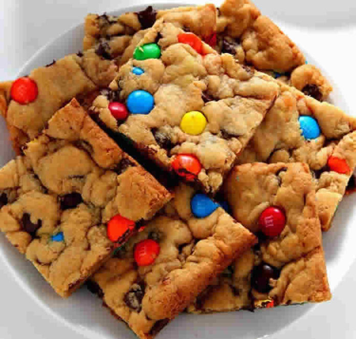 Barre cookies au chocolat et M&M's