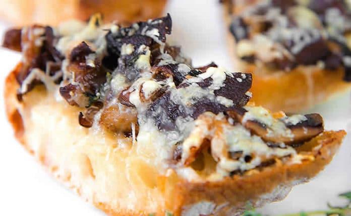 Crostini aux champignons et fromage au thermomix