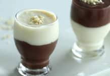 Duo de crème dessert chocolat et vanille au thermomix