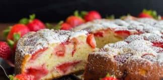 Gâteau aux fraises facile au thermomix