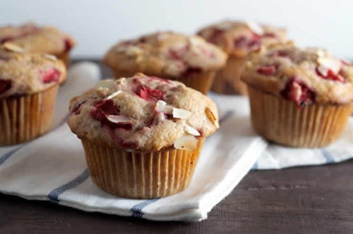 Muffins aux fraises et amandes au thermomix