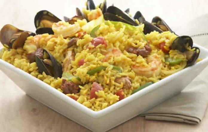 Paella espagnole au poulet et fruits de mer au cookeo