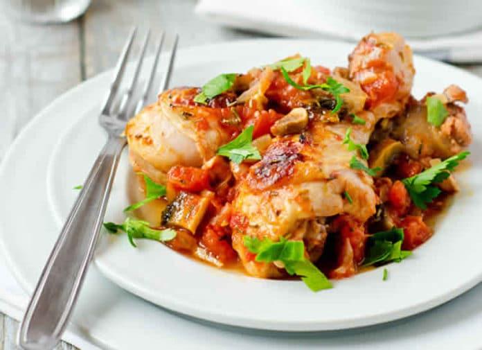 Pilons de poulet champignons et tomates au cookeo