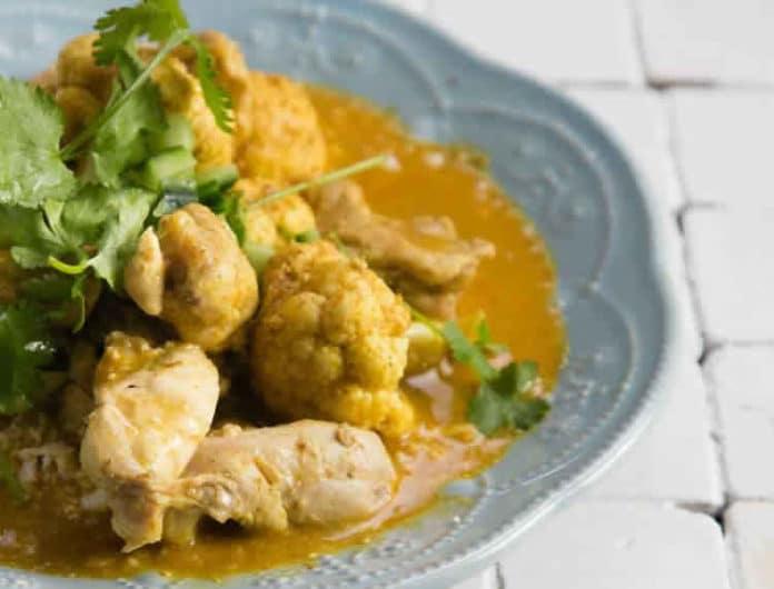 Poulet chou-fleur et curry au cookeo