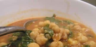 Soupe au pois chiches et épinards au thermomix