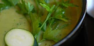 Soupe courgettes et persil au cookeo